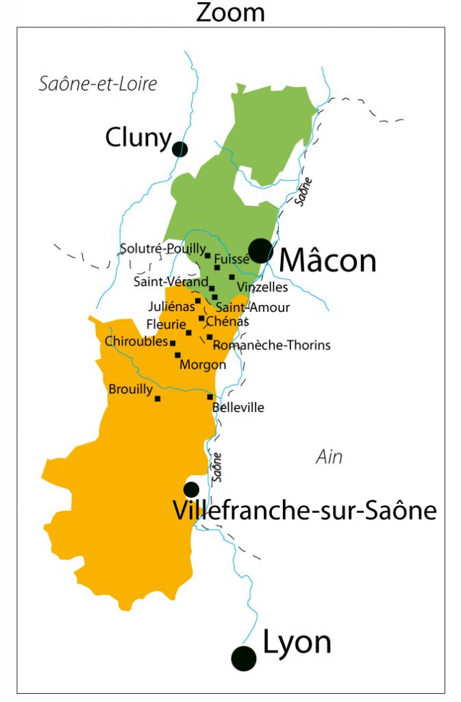 mâconais, beaujolais