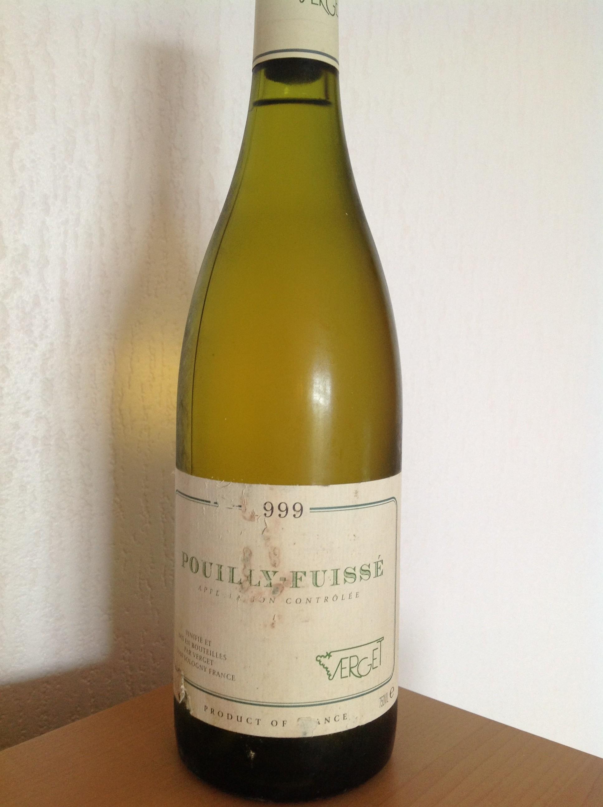 Verget pouilly-fuissé 1999